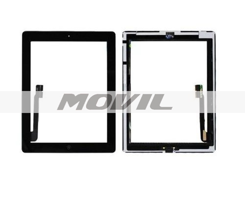 Home Button Assembly and Camera Holder Replacement Part - Black for iPad 3 3rd Gen Touch