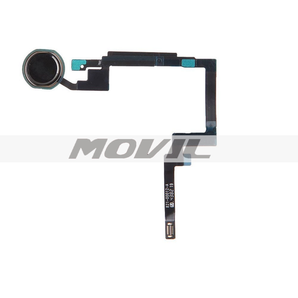 Home Button Key Flex Cable Finger Touch Assembly Replacement Part for Ipad Mini 3 (Black)