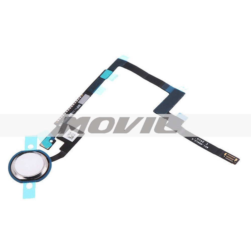 Home Button Key Flex Cable Finger Touch Assembly Replacement Part for Ipad Mini 3 (Silver)