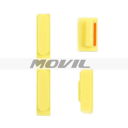 Iphone 5C Side button Set Power + Volume + Mute YELLOW