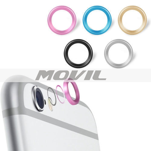 Jewelry Rear Camera Glass Metal Lens Protector Hoop Ring Guard Circle Case Cover For iphone 6 4.7 & plus 5.5 Inch