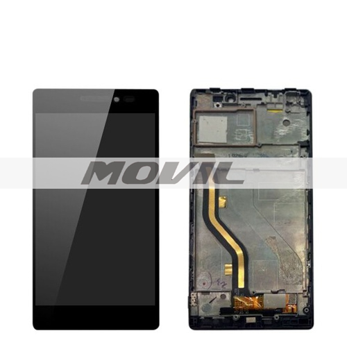 LCD Display Touch Digitizer Screen Assembly with frame For Lenovo Vibe X2