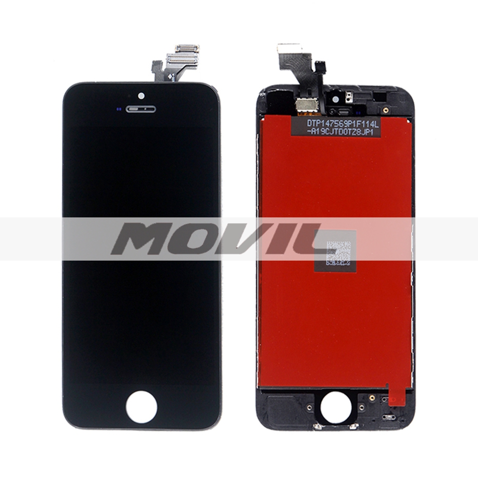 LCD Touch Screen with Digitizer Assembly Replacement For iphone 5 5g Black Color