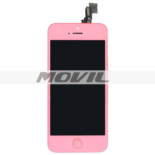 LCD display Touch Screen Digitizer Assembly for Iphone 5c Pink