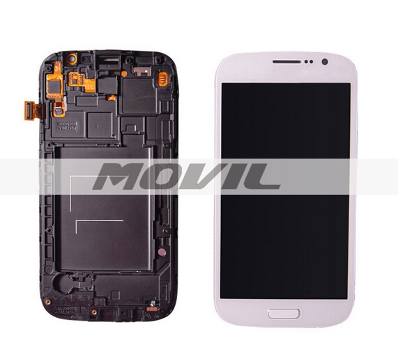 Lcd Display Screen+Touch Glass Digitizer +frame Assembly For samsung galaxy Grand i9080 i9082 white