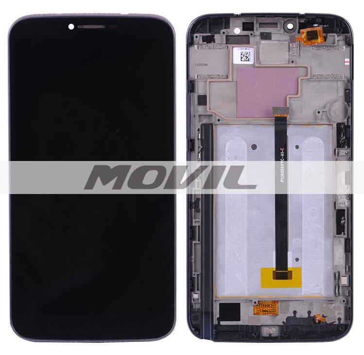New LCD Screen Display With Touch Screen Digitizer Assembly Add Frame For Alcatel One Touch Hero 2 Black