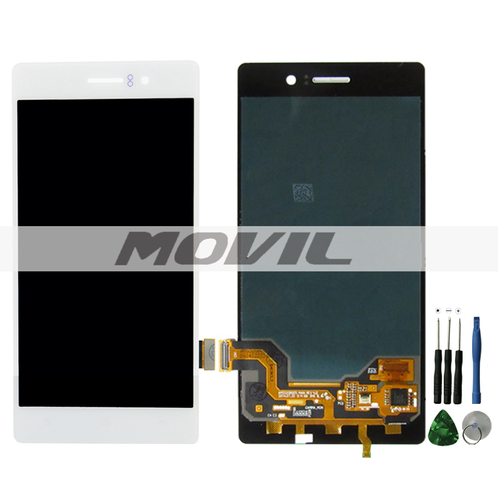 Oppo R5 lcd R8106 R8107 White Lcd Display +Touch Screen Digitizer Assembly Replacement