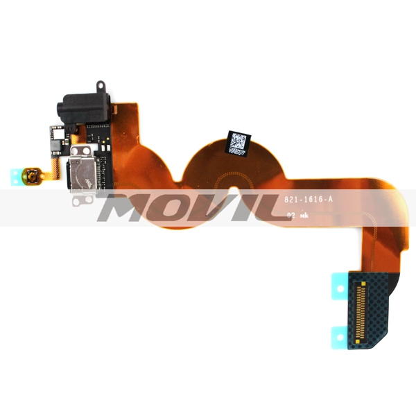 Original Charging Port Dock Connector & Headphone Audio Jack Flex Cable for iPod Touch 5th Gen
