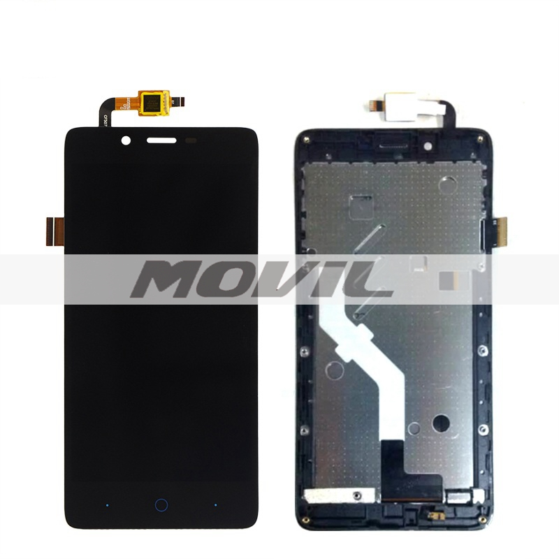 Original For Elephone P6000 LCD Display Touch Screen Digitizer Frame Assembly Black Color