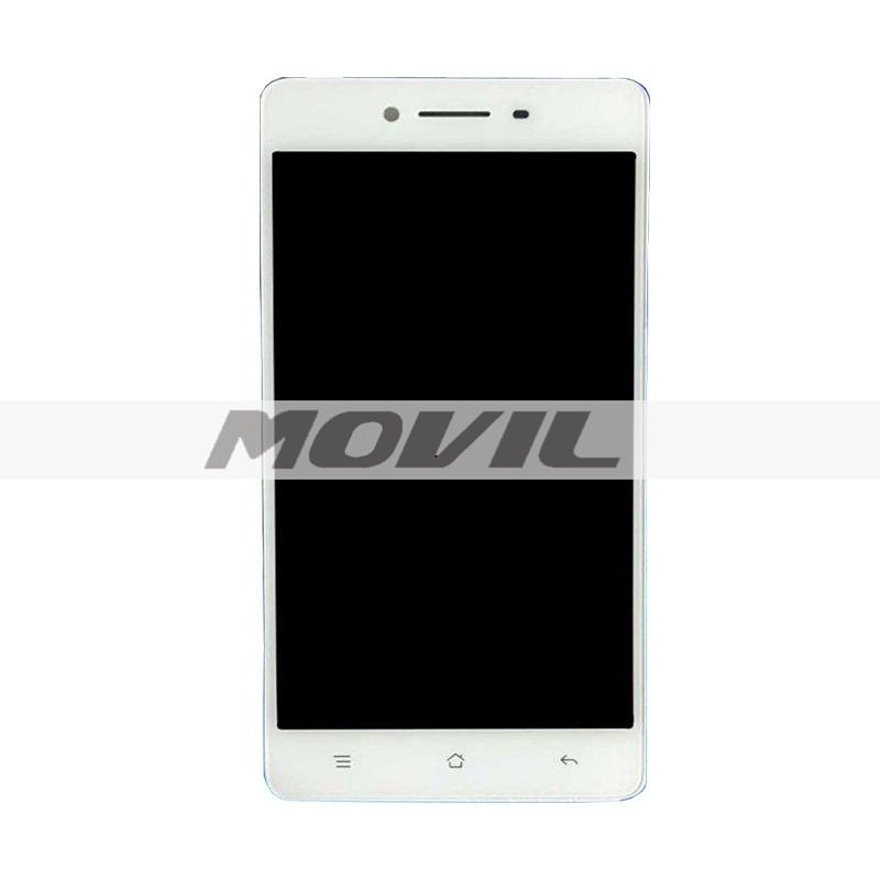 Original LCD Screen Display And Touch Screen Digitizer Frame Assembly For OPPO R7 White Color