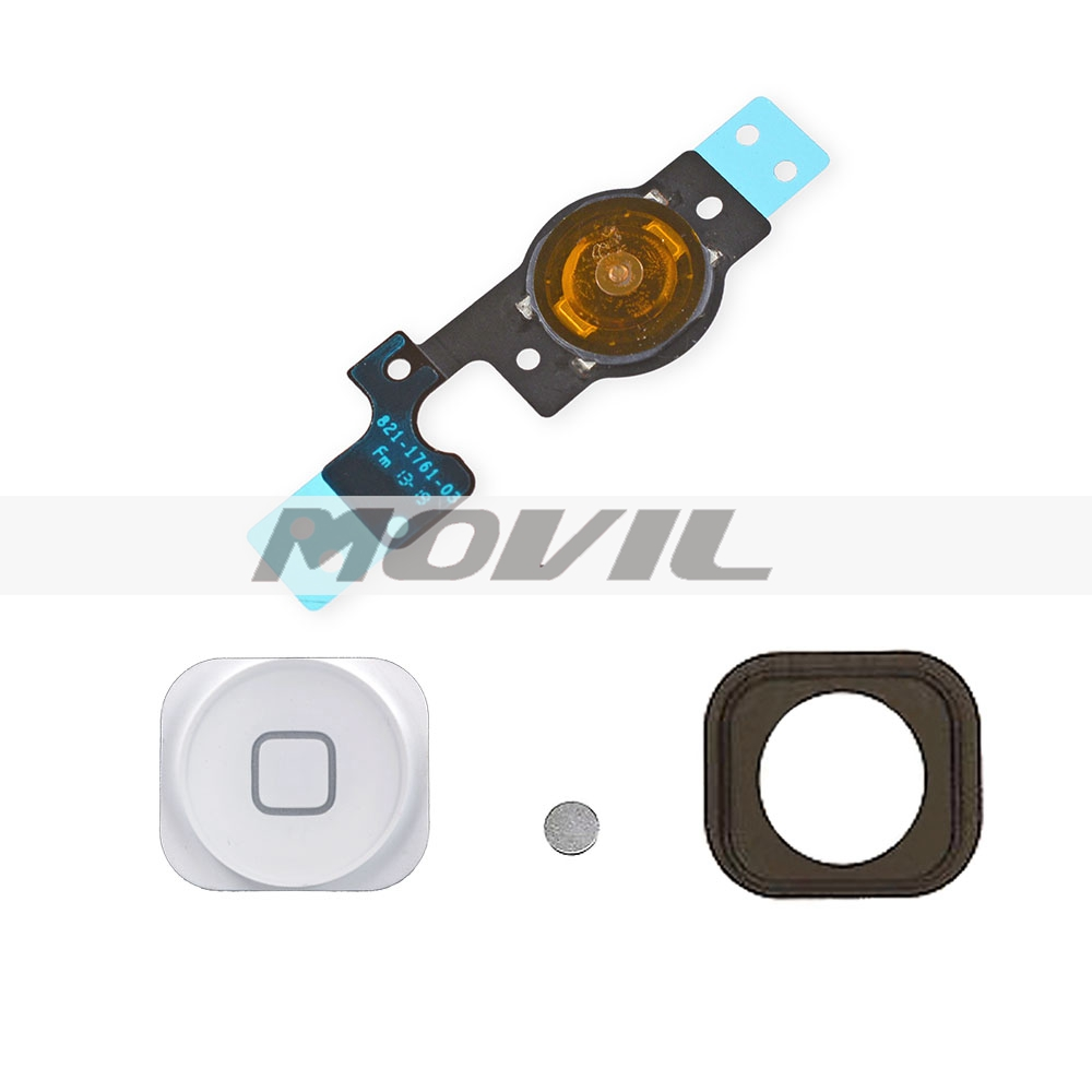 REPLACEMEN INNER WHITE HOME MENU BUTTON FLEX WITH RUBBER + CONTACT for IPHONE 5C