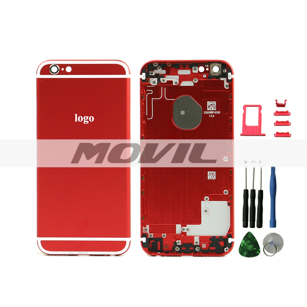 Red Housing Replacement Back Battery Cover Middle Frame Metal Back Housing For iPhone 6 4.7