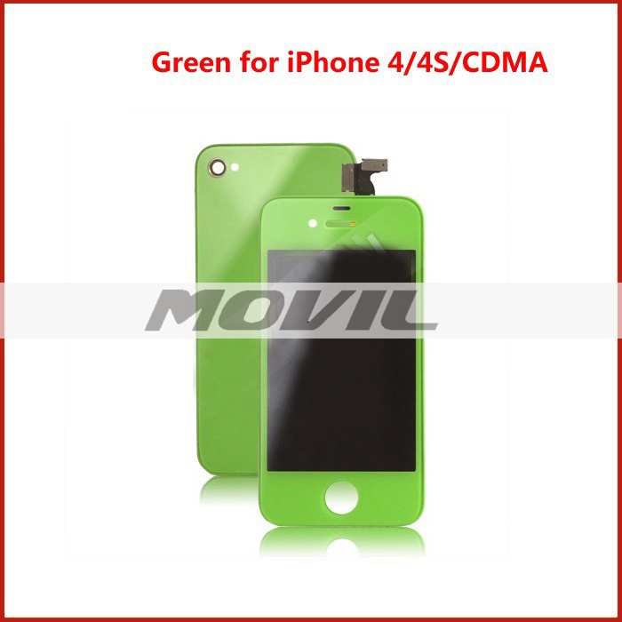 Replacement Colorful LCD Display with Touch Screen Digitizer For iPhone 4 4G 4S green