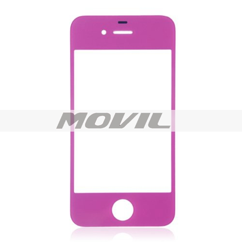 Replacement Front Glass for iPhone 44S4 CDMA GSM (Purple)
