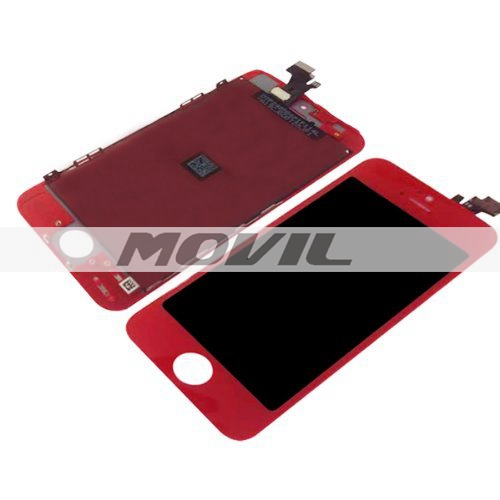 Replacement LCD Display and Touch Screen Digitizer for iPhone 5C red