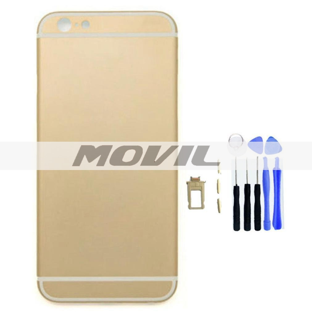 Replacement Part Metal Alloy Back Battery Case Back Cover for iPhone 6 Plus 5.5 Inch (Gold)