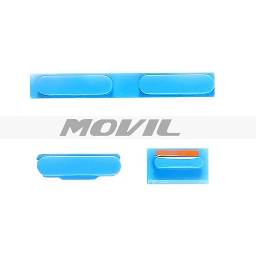 Replacement Part Volume Power Mute Switch Button Set Kit Blue For iPhone 5C