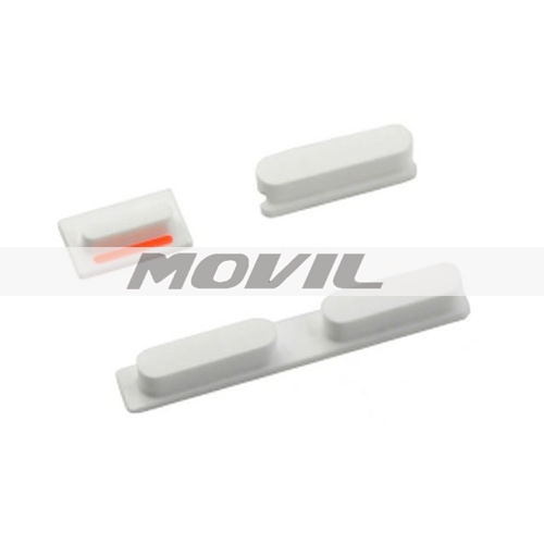 Replacement Part Volume Power Mute Switch Button Set Kit White For iPhone 5C
