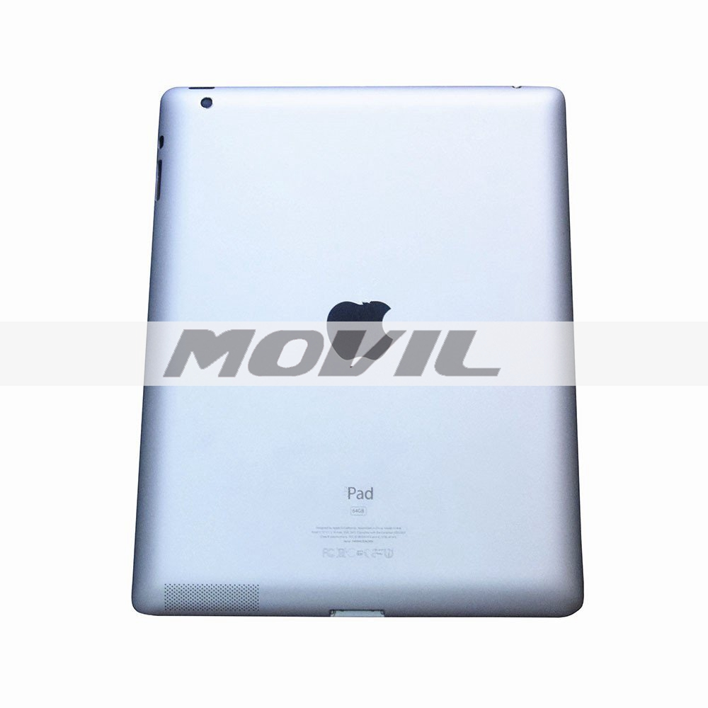 SILVER Metal Replacement Battery Door Back Cover Rear Housing with LOGO&Origianl Writings for Apple iPad 3