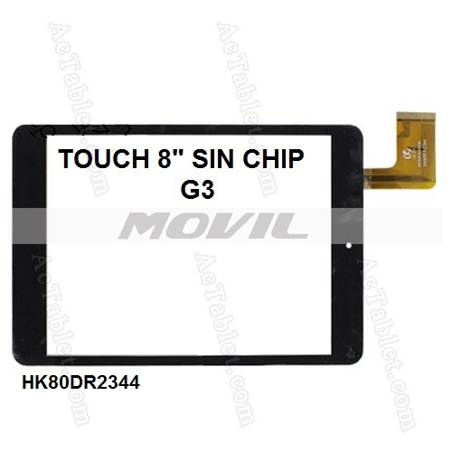 Touch tactil para tablet flex 8 inch SIN CHIP G3 HK80DR2344