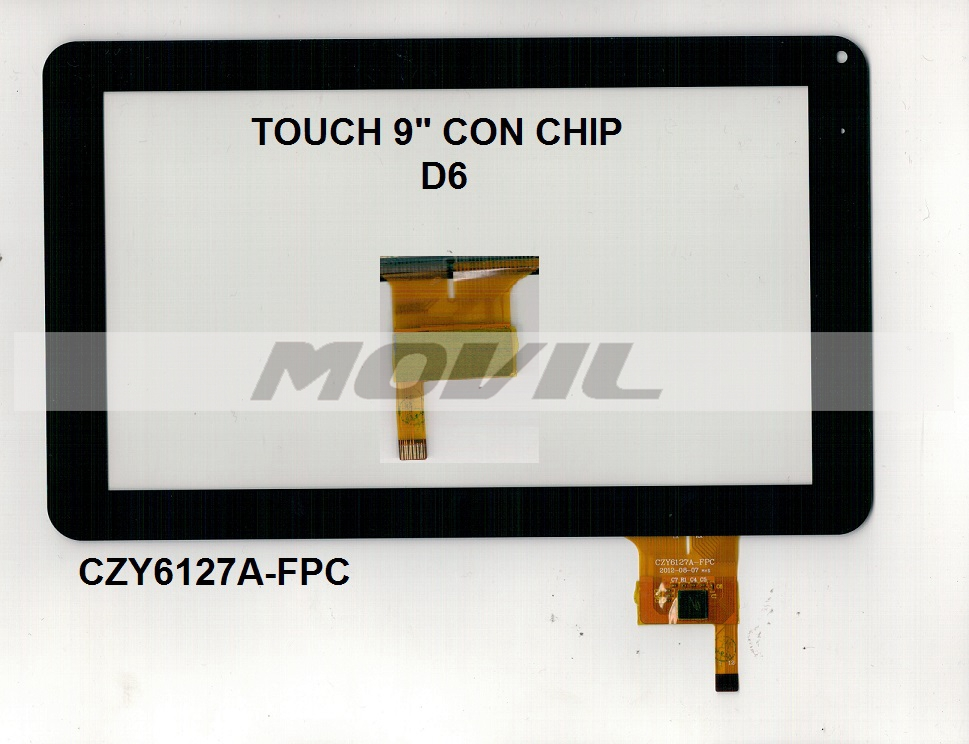 Touch tactil para tablet flex 9 CON CHIP D6 CZY6127A-FPC
