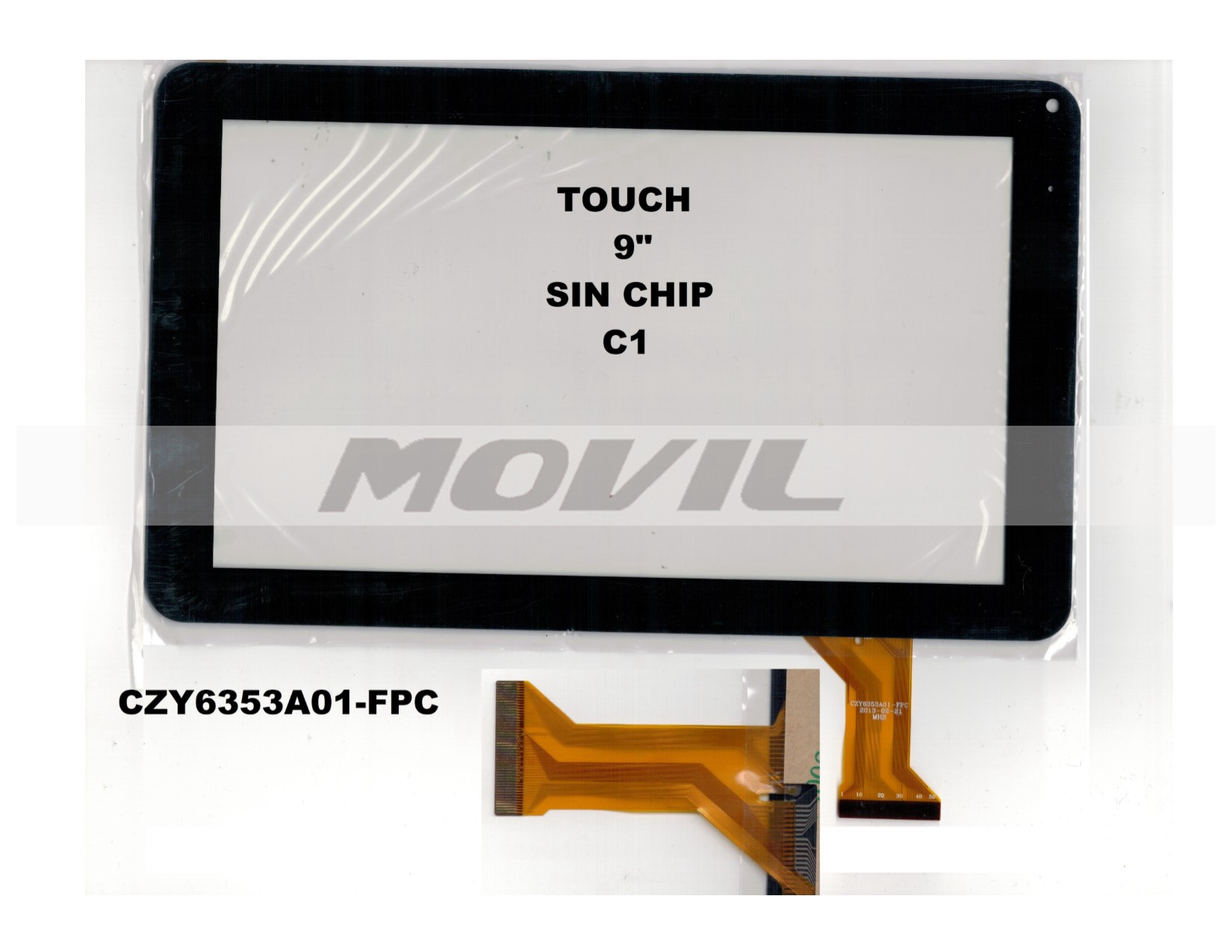 Touch tactil para tablet flex 9 inch SIN CHIP C1 CZY6353A01-FPC