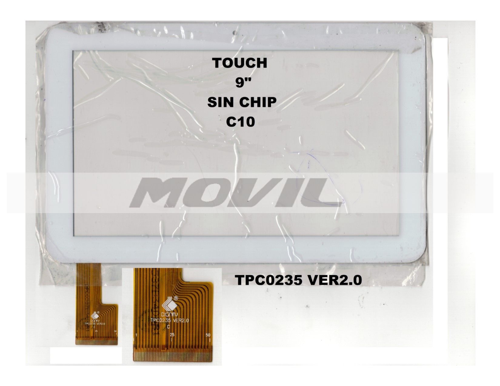 Touch tactil para tablet flex 9 inch SIN CHIP C10 TPC0235 VER2.0
