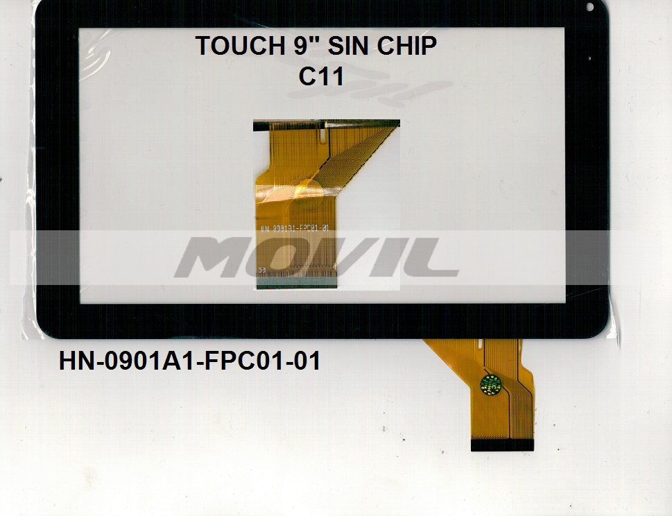 Touch tactil para tablet flex 9 inch SIN CHIP C11 HN-0901A1-FPC01-01
