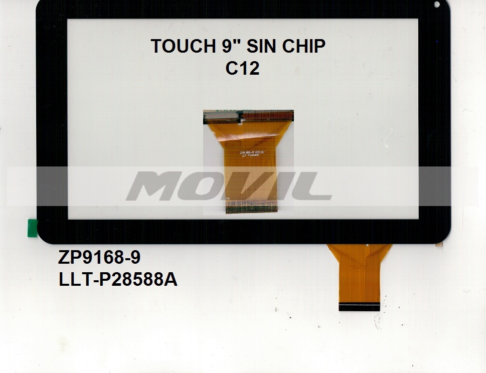 Touch tactil para tablet flex 9 inch SIN CHIP C12 ZP9168-9 LLT-P28588A