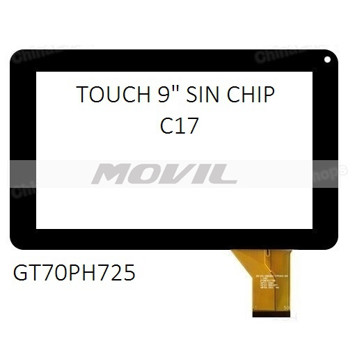 Touch tactil para tablet flex 9 inch SIN CHIP C17 GT70PH725