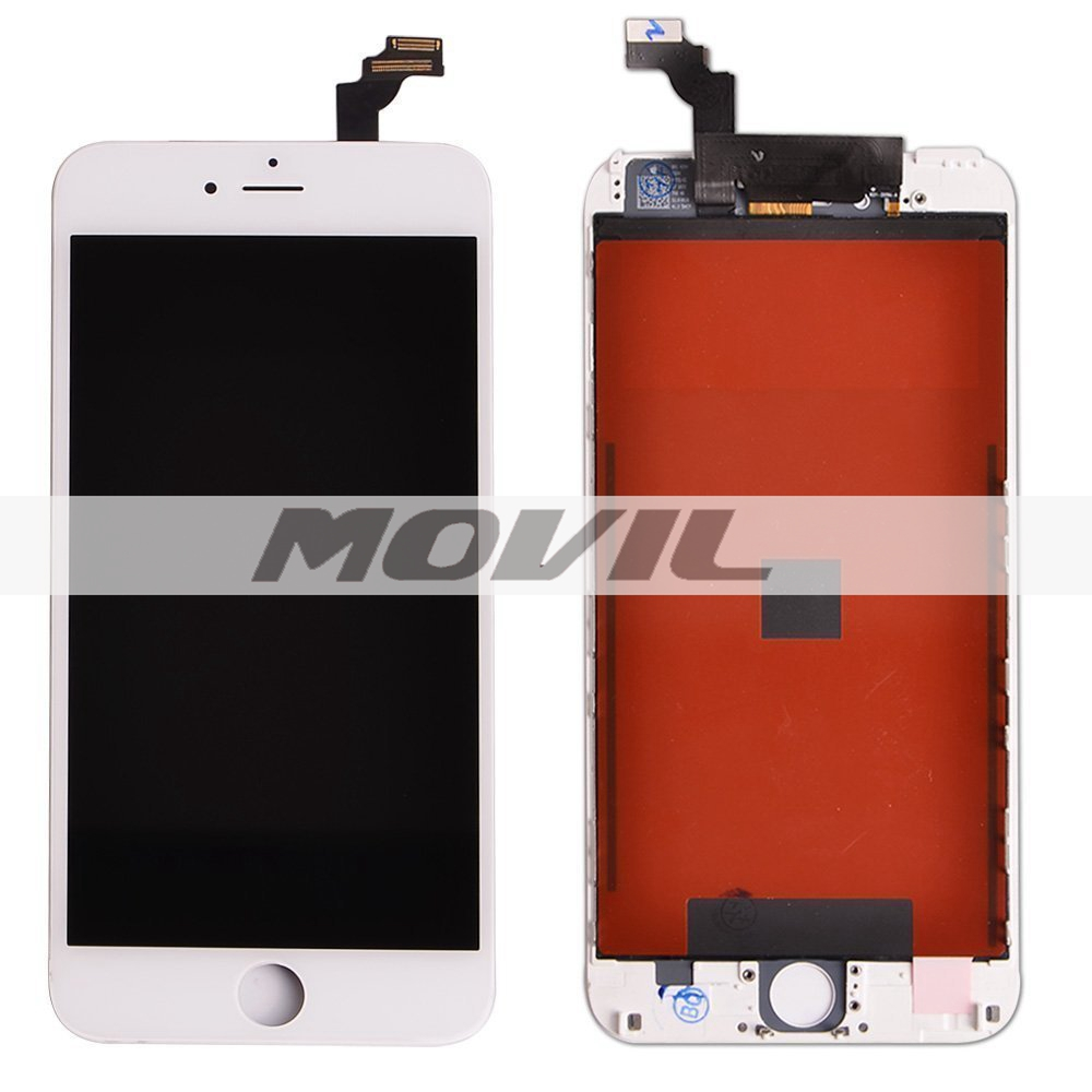 White LCD Display Touch Digitizer Screen Assembly Replacement for iPhone 6 Plus  5.5 white