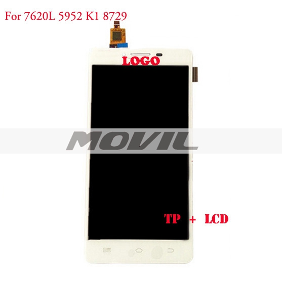 White lCD Display + Digitizer Touch Screen for Coolpad 7620L 5952 K1 8729