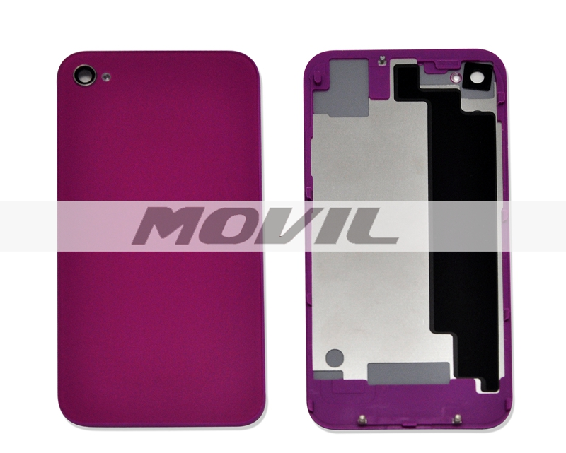 color optional Best OEM quality for iPhone 4G back housing cover rear cover replacement purple with logo