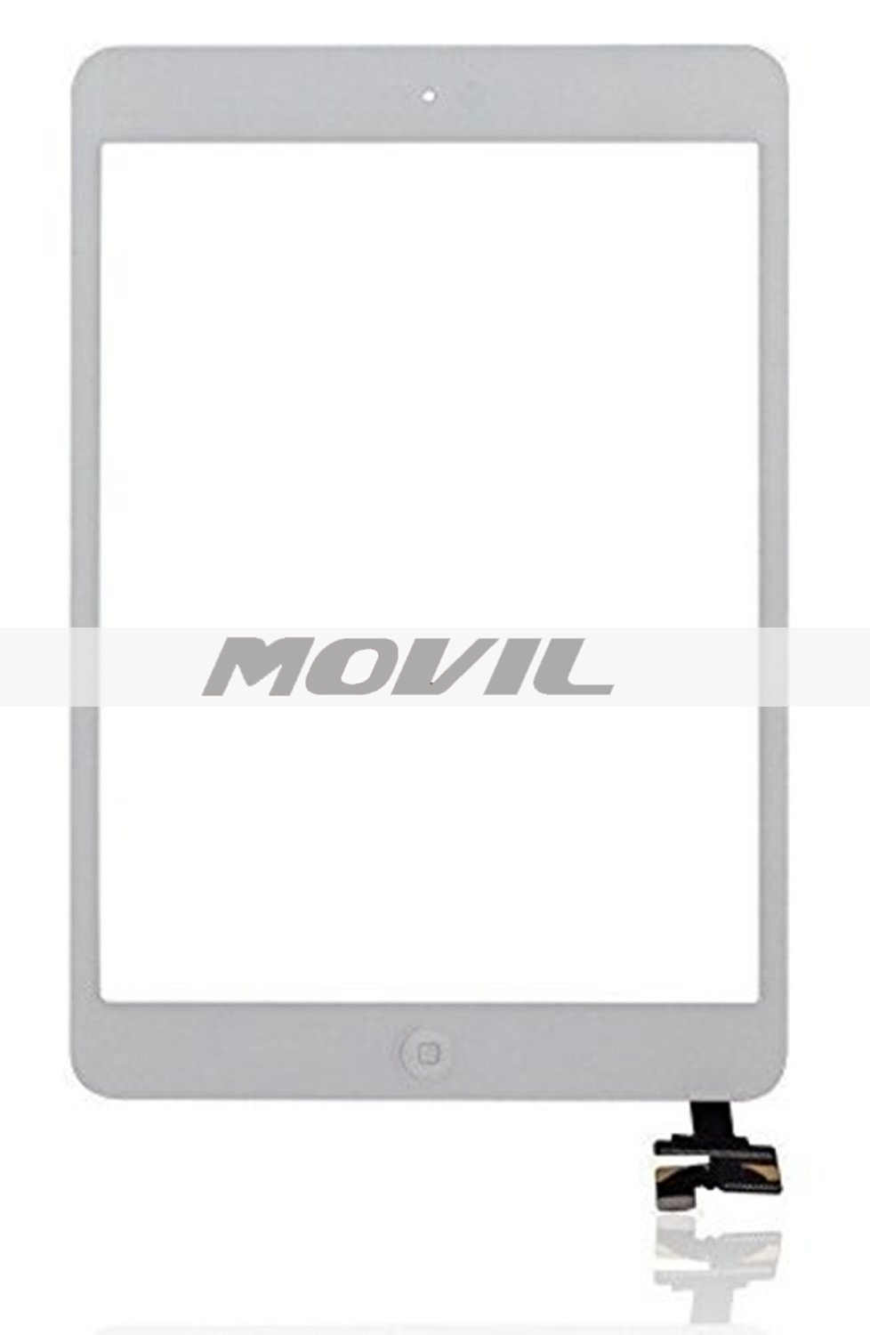iPad Mini 2 Touch Panel + Home Button + IC + Adhesive Universal Buying(TM) Touch Screen Digitizer Outer Glass Panel Complete Assembly Replacement for iPad Mini 2 - White