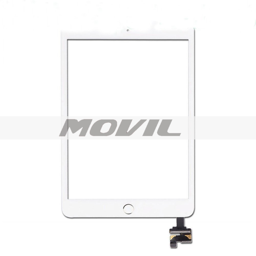 iPad Mini 3 Touch Panel + Home Button + IC + Adhesive Universal Buying Touch Screen Digitizer Outer Glass Panel Complete Assembly  white
