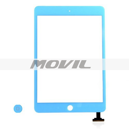 iPad Mini Digitizer Touch Screen with Home Button - Blue