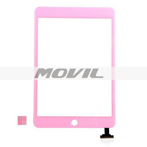 iPad Mini Digitizer Touch Screen with Home Button - Pink