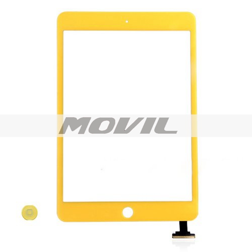 iPad Mini Digitizer Touch Screen with Home Button - Yellow