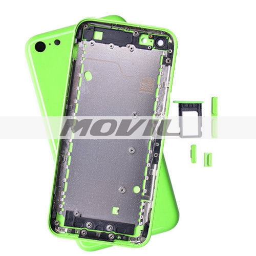 iPhone 5C Green Back Rear Housing Battery Cover Case Replacement Buttons
