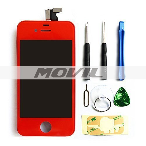 iPhone4S screen replacement repair parts kit Full Front Glass red